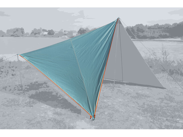 Bent Canvas Plain Kit, ocean wave/zipper orange